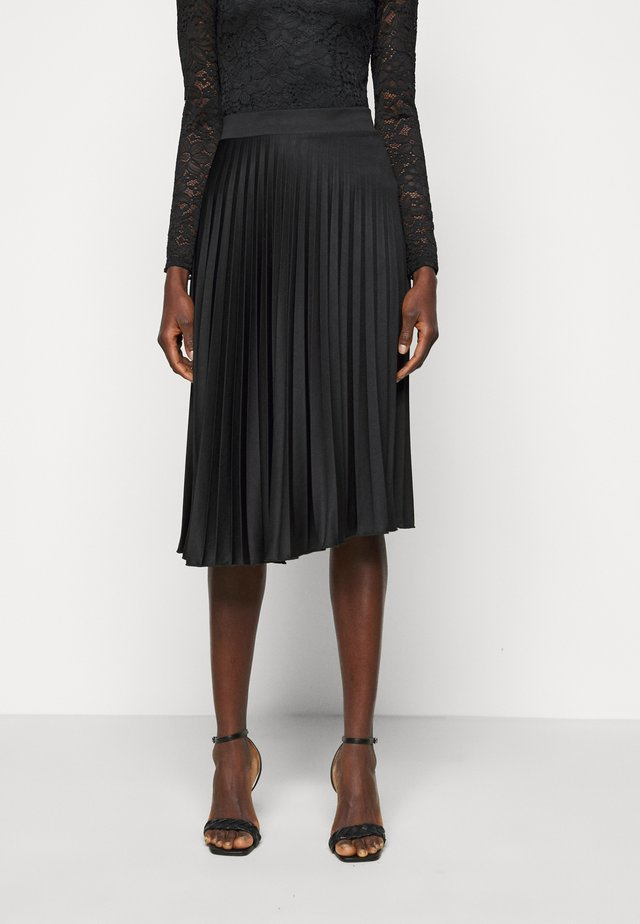 PLEAT SKIRT - Jupe trapèze - black