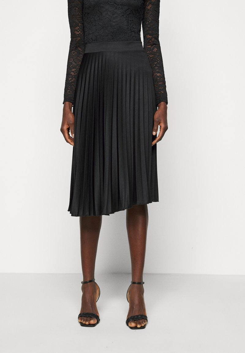 Dorothy Perkins Tall - PLEAT SKIRT - A-line skirt - black