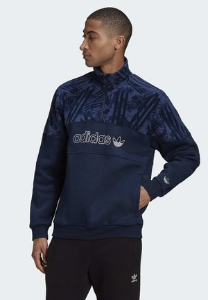 QUARTER-ZIP TRACK - Sweatshirt - blue