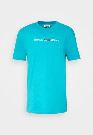 TJM STRAIGHT SMALL LOGO - Print T-shirt - exotic teal