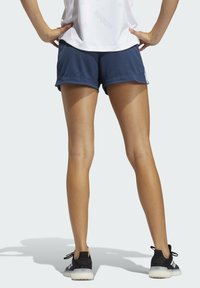 adidas Performance - PACER 3 STRIPES KNIT CLIMALITE SHORTS - Sports shorts - blue - 1