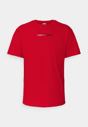 LINEAR LOGO TEE - Print T-shirt - red