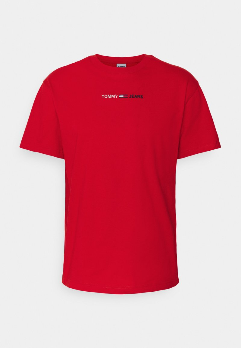 Tommy Jeans - LINEAR LOGO TEE - T-shirt con stampa - red