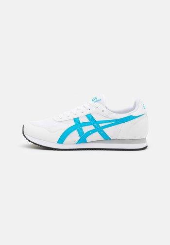 TIGER RUNNER UNISEX - Trainers - white/aizuri blue