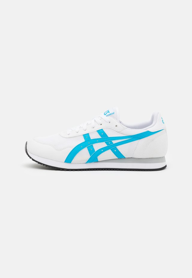 TIGER RUNNER UNISEX - Zapatillas - white/aizuri blue