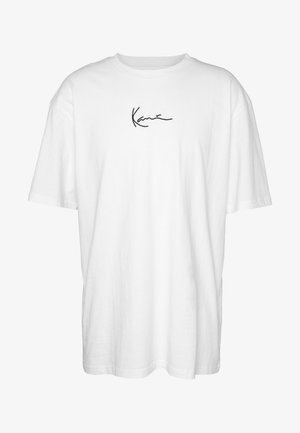 KK SIGNATURE TEE - Basic T-shirt - white
