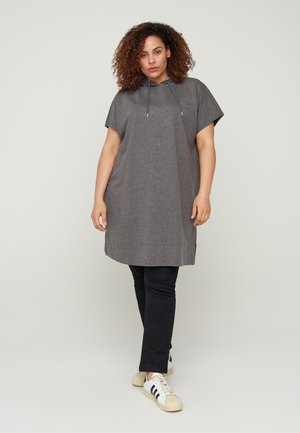 SHORT SLEEVES - Huppari - dark grey melange