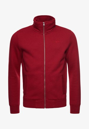 VINTAGE - Zip-up sweatshirt - rich red marl