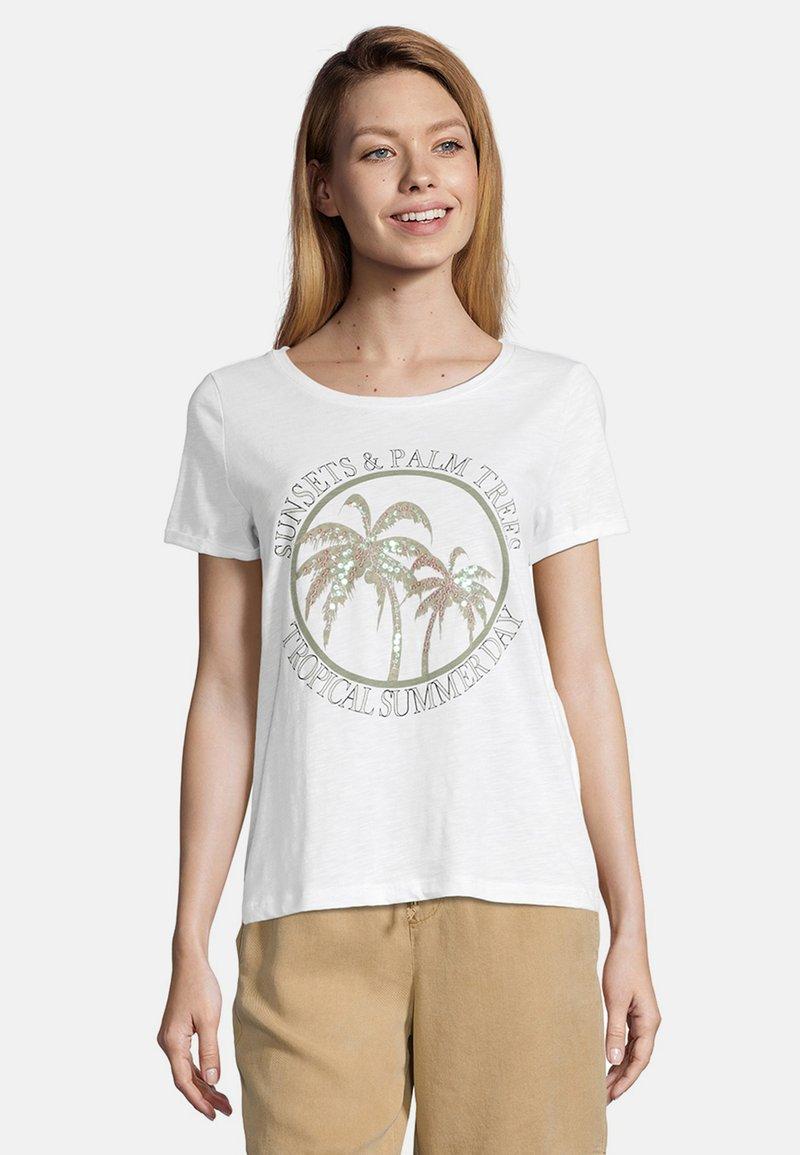 Cartoon - Print T-shirt - cream/khaki