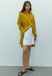 Massimo Dutti - Button-down blouse - mustard yellow - 1