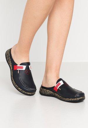 Pantoffels - korsika kostau navy/rosso