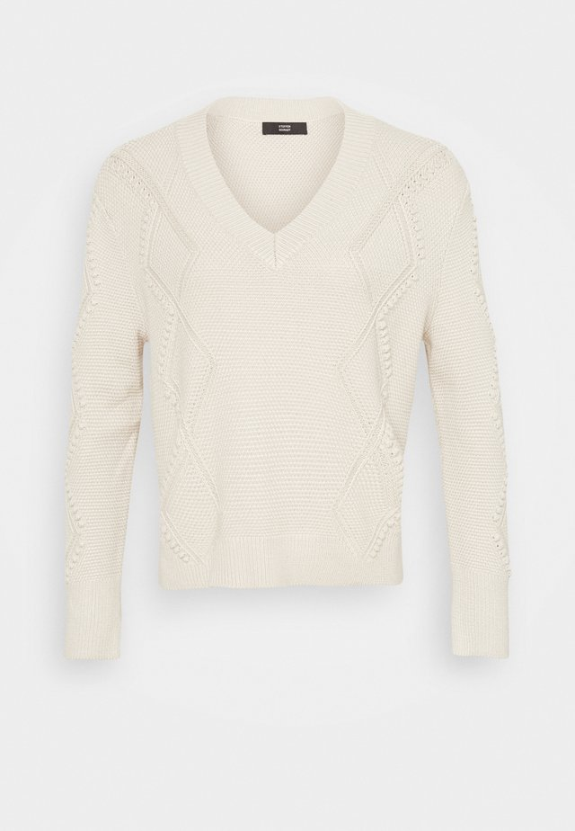 MATHILDE INTARSIA  - Jumper - almond
