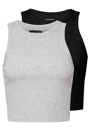 2 PACK - Top - light grey/black