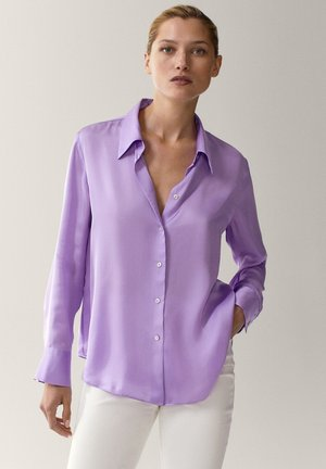 Overhemdblouse - dark purple