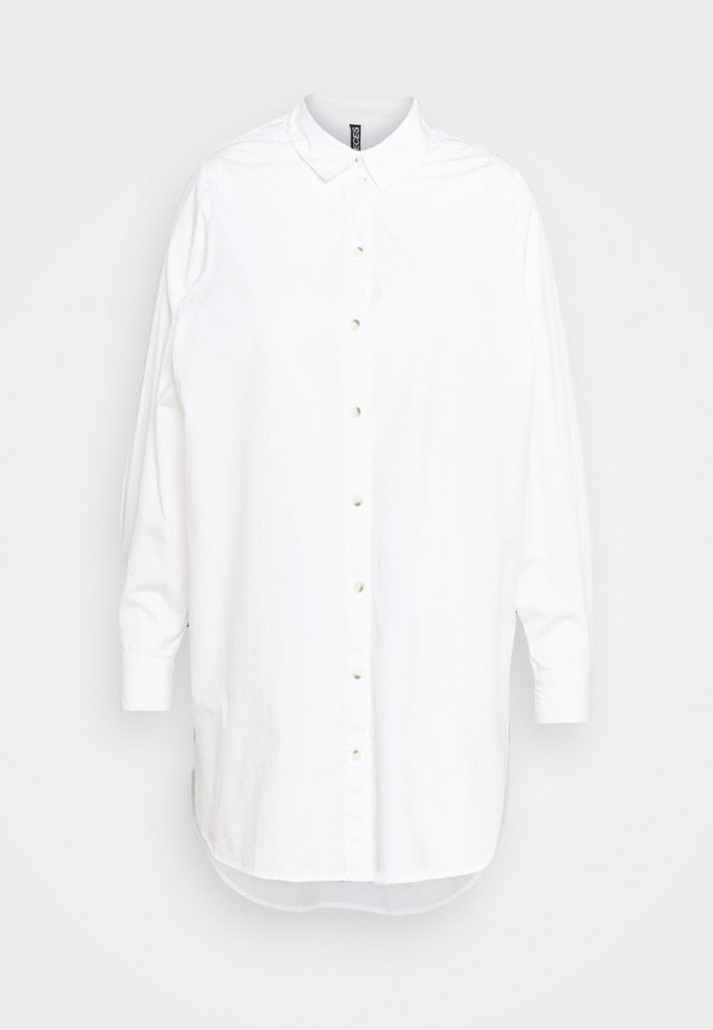 PCNOMA LONG SHIRT - Button-down blouse - cloud dancer