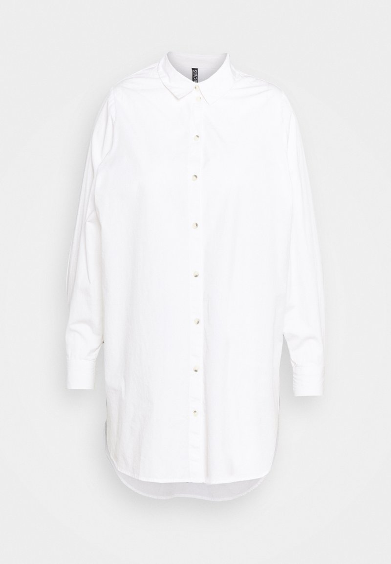 Pieces Curve - PCNOMA LONG SHIRT - Button-down blouse - cloud dancer