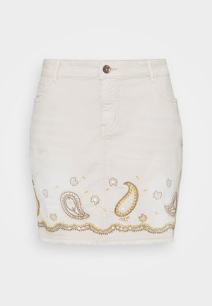 BILLI JEANS - Denim skirt - white