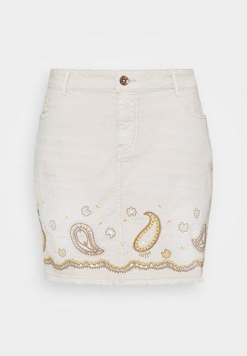 BILLI JEANS - Denimová sukně - white