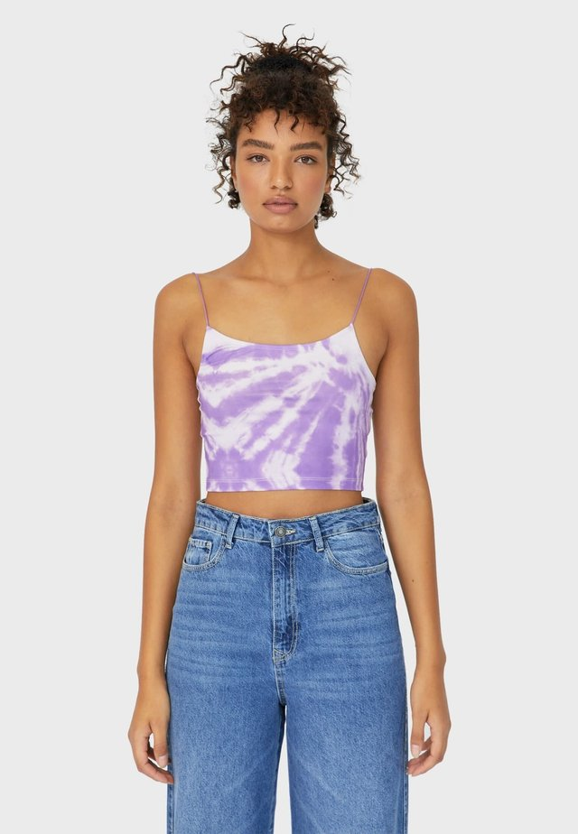 CROPPED-SHIRT MIT TIE-DYE  - Toppe - purple