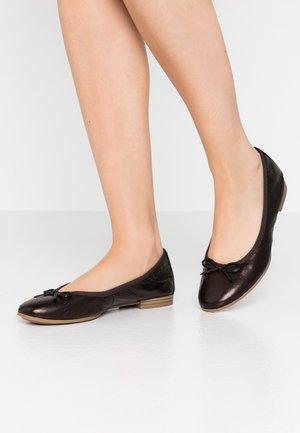WOMS  - Ballet pumps - dark bronce