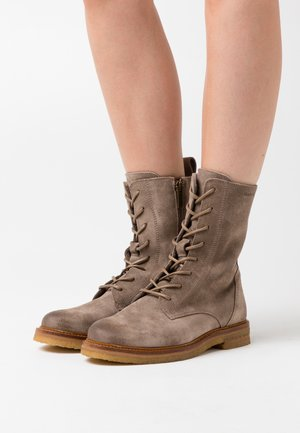 BRENDA - Lace-up ankle boots - taupe