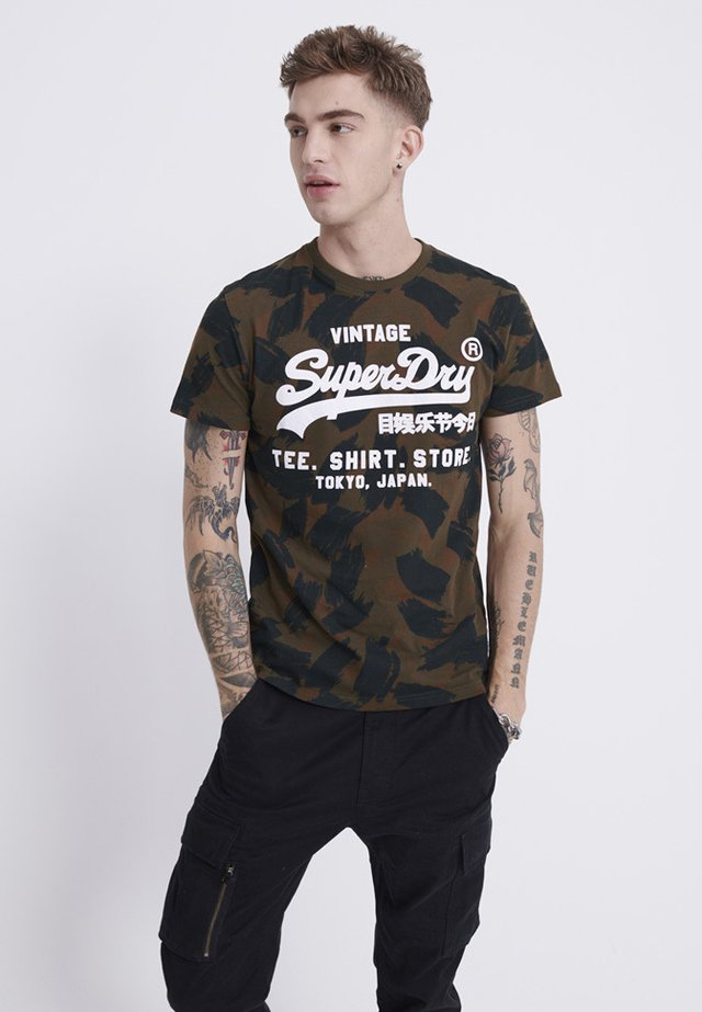 VINTAGE  - Print T-shirt - green