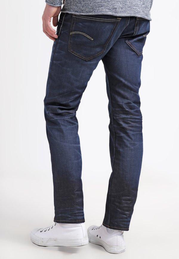 G-Star 3301 STRAIGHT - Jeansy Straight Leg - hydrite denim/ciemnoniebieski Odzież Męska BXME