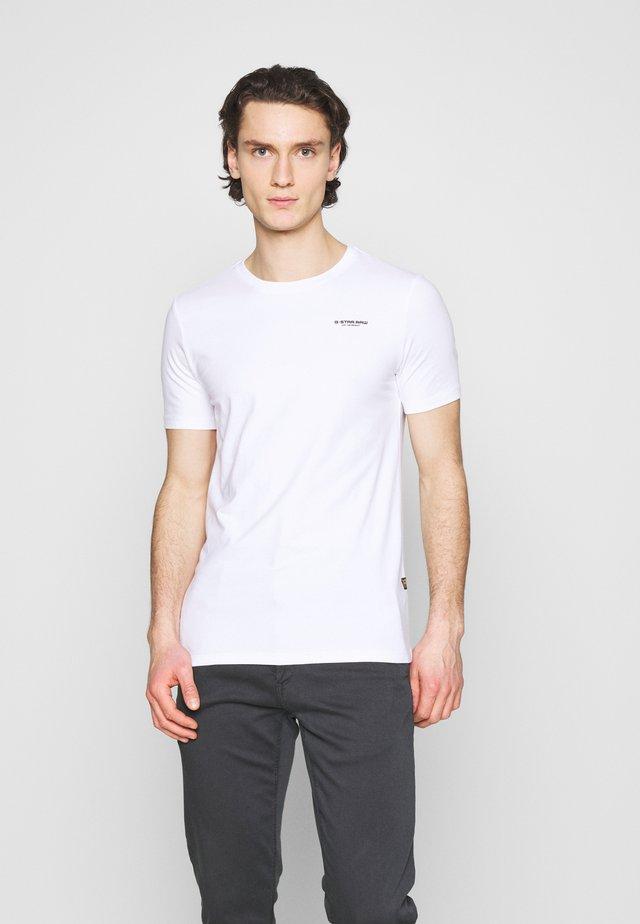 SLIM BASE R T - Basic T-shirt - white