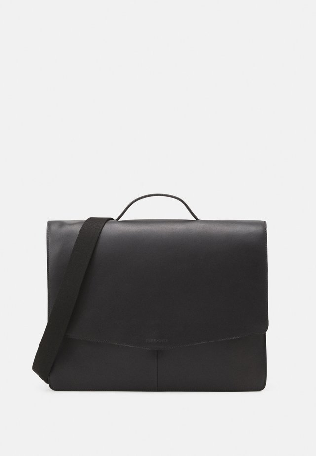 LEATHER - Briefcase - black