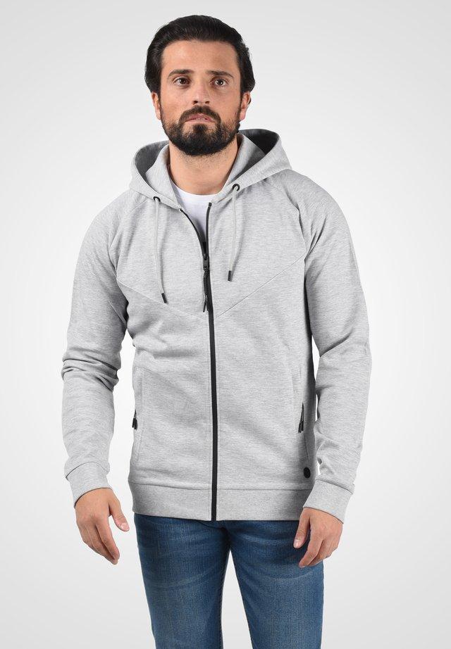 veste en sweat zippée - light grey melange