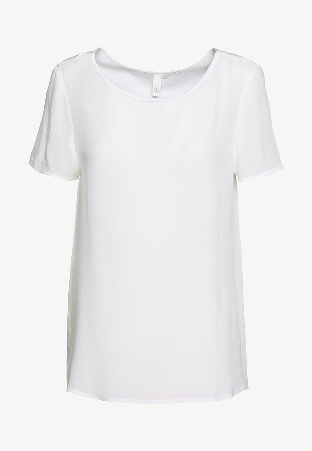 BLUSE - KURZE ÄRMEL - Basic T-shirt - white