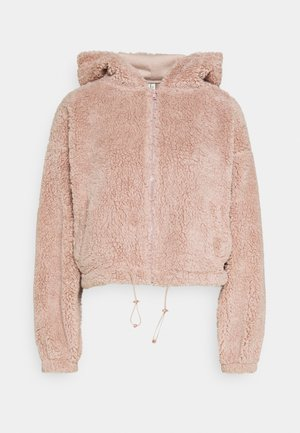 HOODIE JACKET - Fleece jacket - mauve