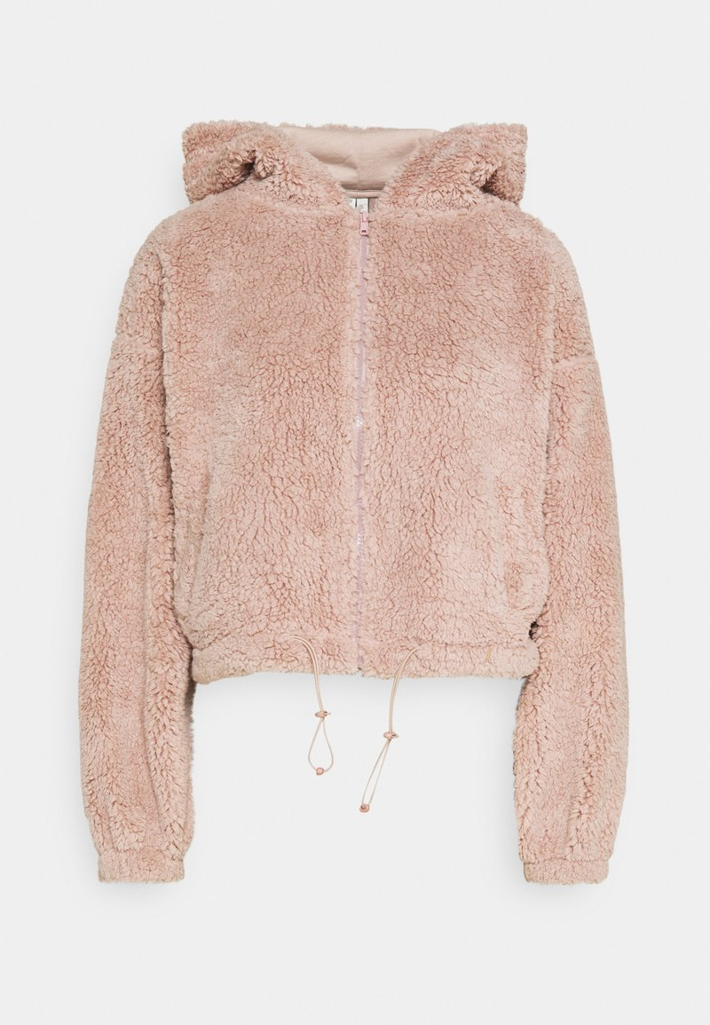 Nly by Nelly - HOODIE JACKET - Fleece jacket - mauve