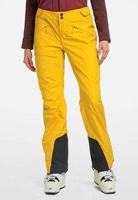 Haglöfs - LUMI FORM PANT - Snow pants - pumpkin yellow - 0