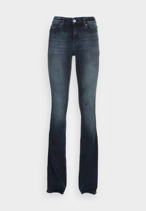 ONLBLUSH LIFE FLARED - Flared jeans - blue black denim
