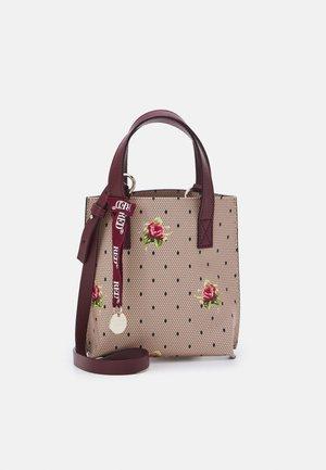 Käsilaukku - nude/nero/burgundy
