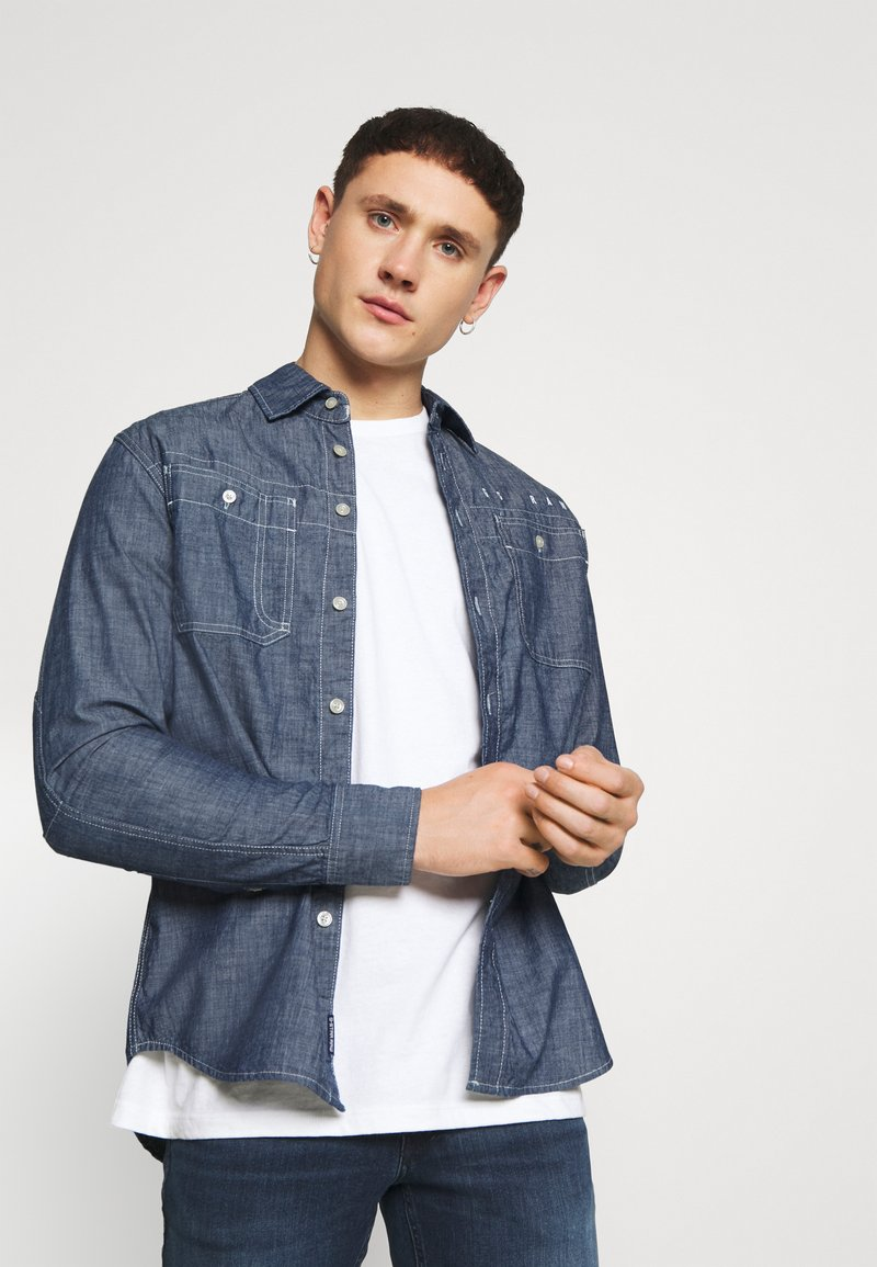 G-Star - KINEC STRAIGHT SHIRT L\S - Overhemd - faded blue