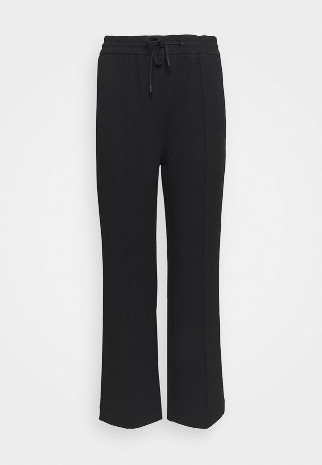 THE WIDE LEG PANTS - Verryttelyhousut - black