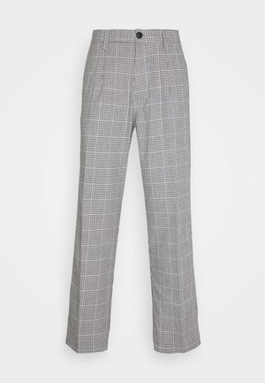 HARDWORK YARN DYED PANT - Trousers - sky multi