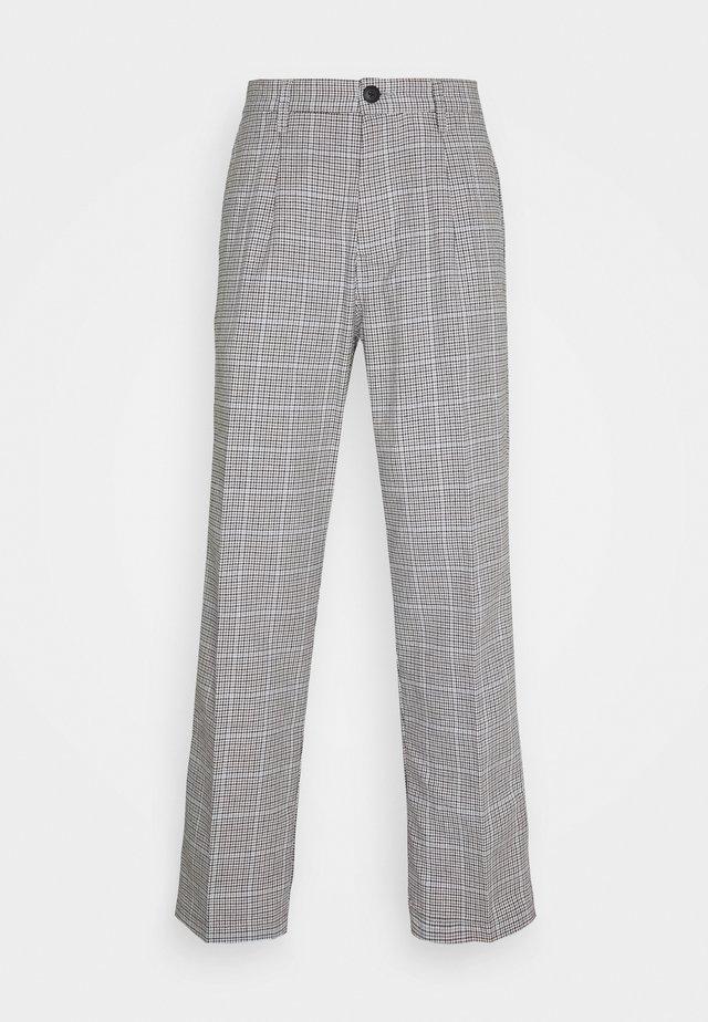 HARDWORK YARN DYED PANT - Trousers - sky multi