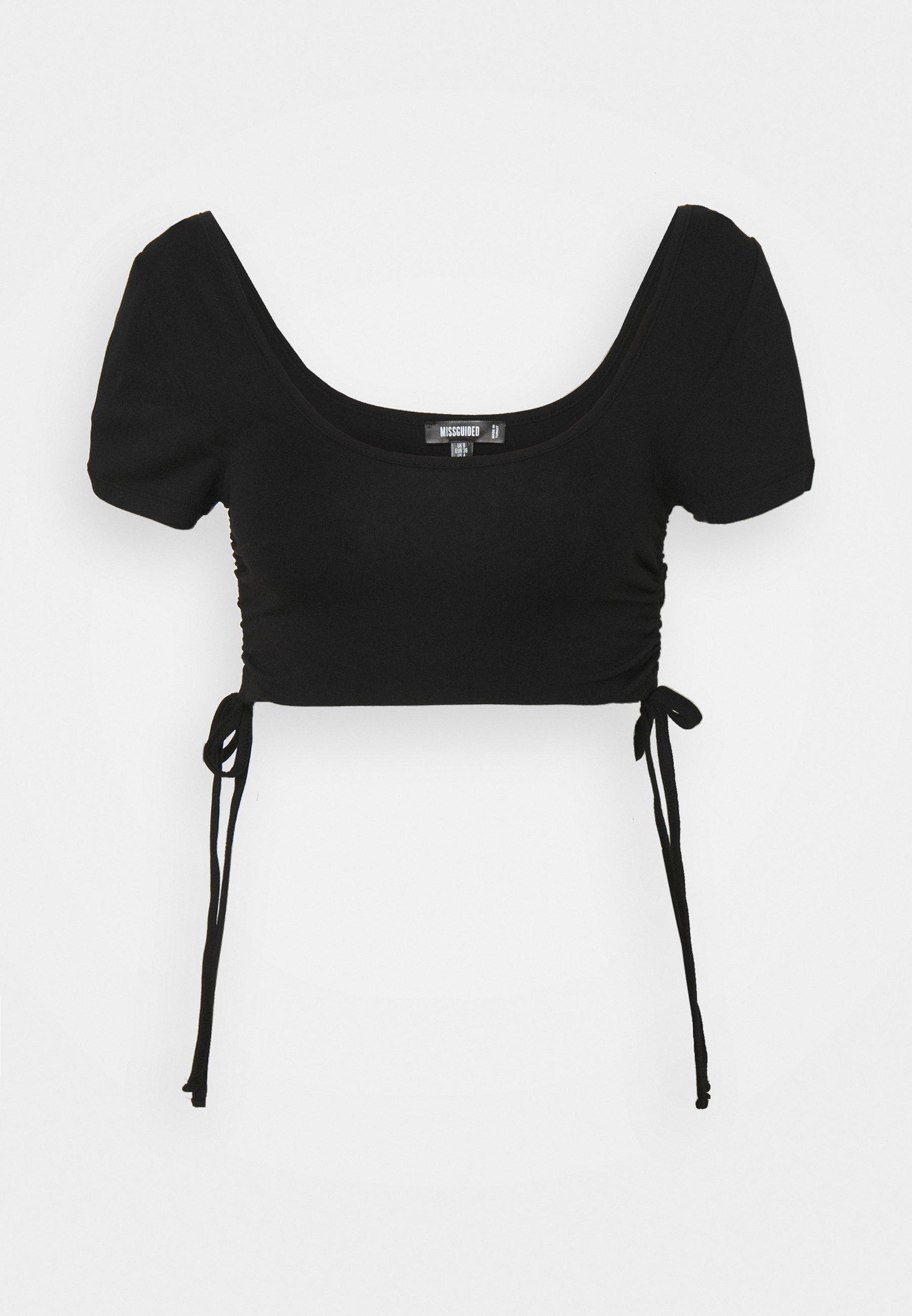 Women RUCHED SIDE CROP  - Print T-shirt
