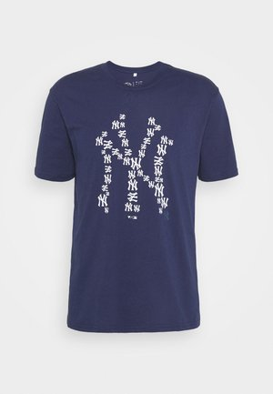 NEW YORK YANKEES INFILL CORE GRAPHIC - T-shirt con stampa - navy