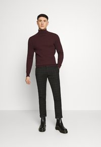 Zign - Jumper - mottled bordeaux - 1