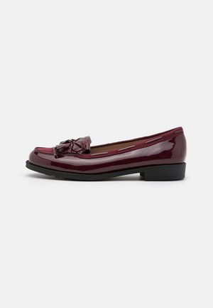 WIDE FIT LEXY TASSLE LOAFER - Mocassins - oxblood