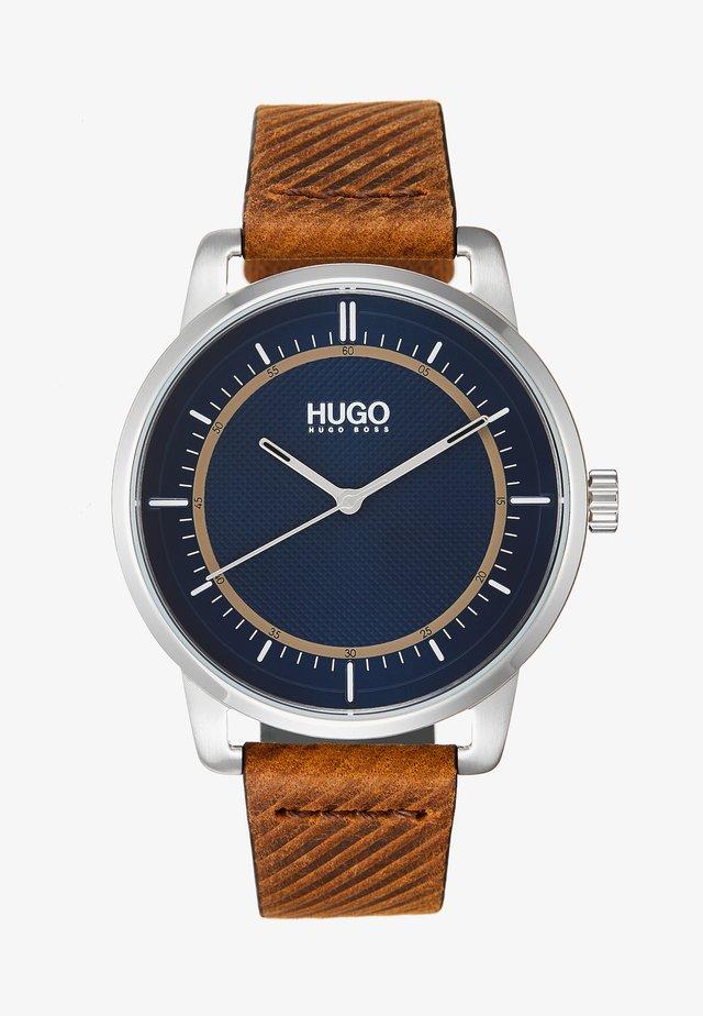 REVEAL - Horloge - brown/blue
