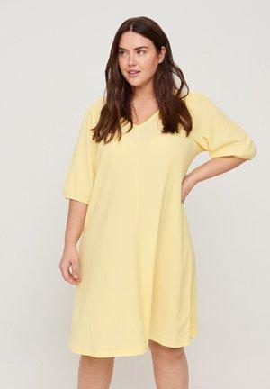 Jersey dress - mellow yellow