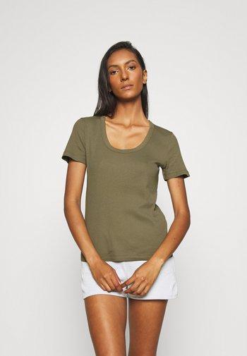Basic T-shirt - burnt olive