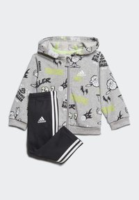 adidas Performance - FRENCH TERRY GRAPHIC TRACKSUIT - Tracksuit - grey - 0