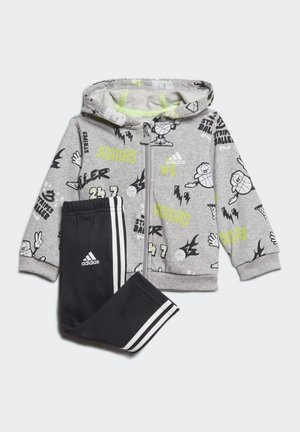 FRENCH TERRY GRAPHIC TRACKSUIT - Tracksuit - grey
