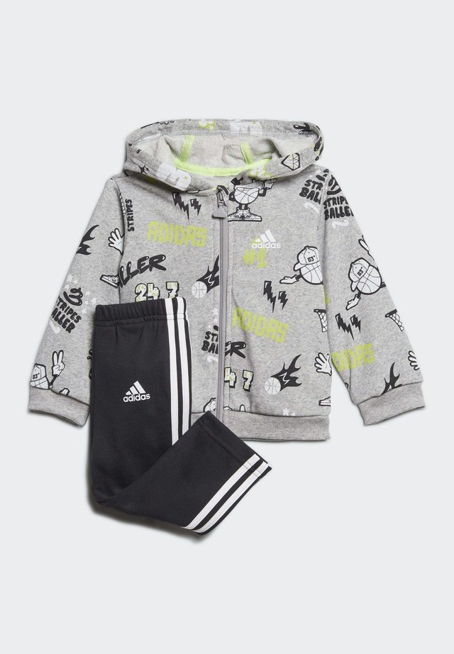 FRENCH TERRY GRAPHIC TRACKSUIT - Träningsset - grey